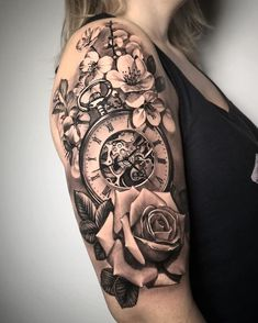 sleeve tattoos, Sleeve Tattoos for women, unique sleeve tattoos, flower sleeve tattoos, black and white sleeve tattoos Quarter Sleeve Tattoos, Tattoos For Women Half Sleeve, Shoulder Tattoos For Women, Best Sleeve Tattoos, Tattoo Sleeve Designs, Flower Sleeve Tattoos, Sleeve Tattoo Women, Women Sleeve, Mommy Tattoos