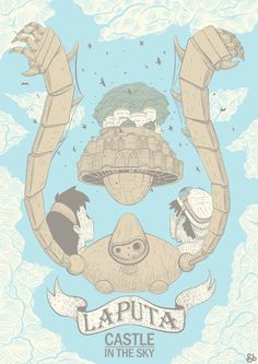 Laputa: Castle In The Sky by ~BlackJackWhite on deviantART