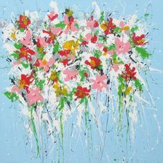 "Saatchi Art Artist Isabelle Pelletane; #Painting, ""Boraly"" #art #floral #contemporary #summer www.isabellepelletane.com"