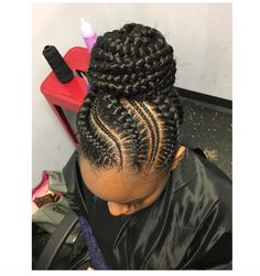 Love this! Styled by @nisaraye - http://community.blackhairinformation.com/hairstyle-gallery/braids-twists/love-styled-nisaraye/