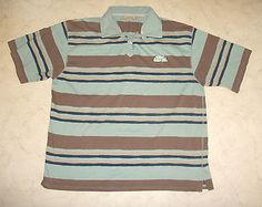 Mens #weird fish #multi #stripe polo shirt xxl 2xl ,  View more on the LINK: http://www.zeppy.io/product/gb/2/201579404859/