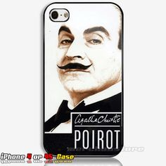 Hercule Poirot in Black Tie Custom iPhone 4 or 4S Case