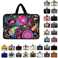 7 10 12 13 15 17.3 inch Laptop Sleeve Waterproof Shockproof Sleeve Pouch Bag Tablet Case Cover For Dell HP ASUS 13.3 14.4 15.6