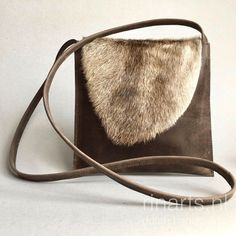 Leather cross body bag   messenger bag   schoulder bag in brown with cow  hair on hide flap 43937b750c4d3
