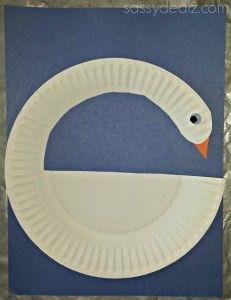 DIY Swan Paper Plate Craft For Kids