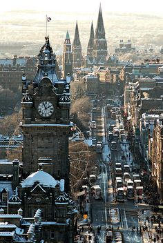 Winter's Day, Edinburgh, Scotland; dream is to be there on New Year's Eve to ring in the new year with shortbread and a wee dram.