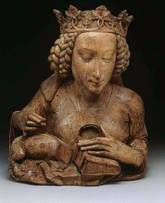 Nicolaus Gerhaert von Leyden, Reliquary Bust of Saint Margaret of Antioch Laat Gotisch, Walnut, with traces of polychromy, Collection Art Institute of Chicago Renaissance, Madonna, Statues, Rome Antique, Empire Romain, St Margaret, Effigy, Art Institute Of Chicago, Medieval Art