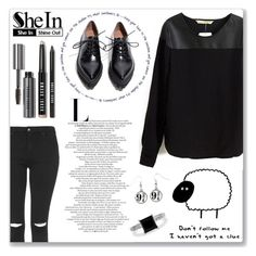 """""""SheIn"""" by yesanastasia1919 ❤ liked on Polyvore featuring Topshop, Jeffrey Campbell, BERRICLE, Bobbi Brown Cosmetics, Sheinside and shein"""