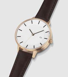 classic watch rose gold mocha
