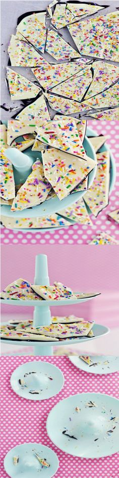 Cake Batter & Sprinkle Bark