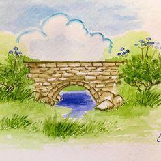 #artprojects #artimpressionsstamps #watercolor #artimpressions #artimpressionswatercolor #watercolorbridge
