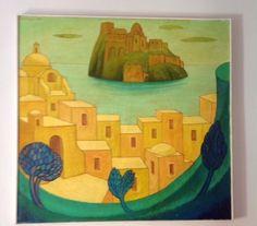 Il borgo d'Ischia. olio su tela.