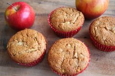 The Healthy Happy Wife: Apple Spice, Red Fife Muffins (Dairy and Refined Sugar Free)