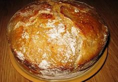 Domácí chleba Bread And Pastries, Russian Recipes, Bread Recipes, Baked Potato, Dairy, Pudding, Baking, Ethnic Recipes, Desserts