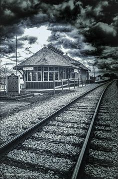 Train depot restored by the Marlette Historical Society in Marlette, Michigan