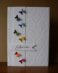 Plain and beautiful - Plain and beautiful - embossed cards plain beautiful .Plain and beautiful - plain and beautiful - embossed cards plain beautiful andButterfly Lace Metal Cutting Dies Handmade Birthday Cards, Greeting Cards Handmade, Cute Cards, Diy Cards, Embossed Cards, Butterfly Cards, Butterfly Birthday Cards, Rainbow Butterfly, Sympathy Cards