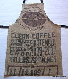 Coffee Sack Apron? Maybe just for the barista?