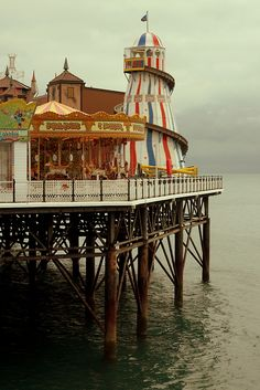 The Palace Pier in Brighton East Sussex England British Seaside, British Isles, The Places Youll Go, Places To See, Magic Places, Carrousel, William Adolphe Bouguereau, Fun Fair, Vintage Circus