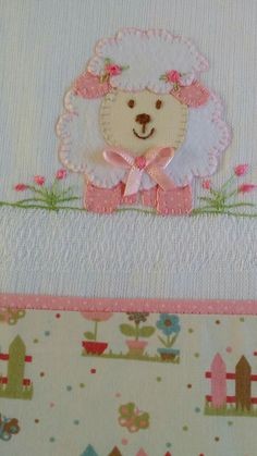 Lamb Applique Patterns, Applique Quilts, Applique Designs, Embroidery Designs, Baby Embroidery, Ribbon Embroidery, Machine Embroidery, Sheep Crafts, Towel Crafts