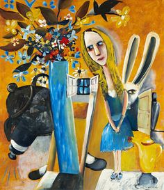 Alice in Wonderland, haunted schoolgirls and secret meetings all appear in this selection of works by painter Charles Blackman Australian Painting, Australian Artists, Selling Art Online, Online Art, Alice In Wonderland Series, Artist Gallery, Aboriginal Art, Artist Art, Asian Art