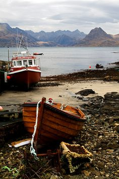 Elgol, Skye, Scotland, UK - fishing boats