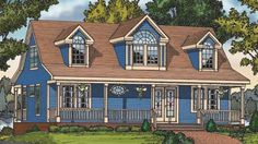 Cottage House Plan with 1673 Square Feet and 4 Bedrooms from Dream Home Source | House Plan Code DHSW72567