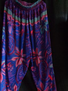 Vintage pants trousers Hawaiian  cotton by vintagewayoflife