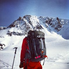 Arc'athlete Forrest Coots scoping lines in the Wrangells (AK)