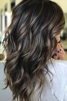 37 Hair Colour Trends 2019 for Dark Skin That Make You Look Younger – Hair Colour Style Perfect dark ash brown balayage. Stylist: (San Jose, CA) 25 Best Warm Black Hair Color Examples You Can Find Brown Hair Balayage, Hair Color Balayage, Dark Balayage, Dark Brown Hair With Blonde Highlights, Baylage On Dark Hair, Dark Brown Hair With Highlights And Lowlights, Dark Highlighted Hair, Ombre On Dark Hair, Black Blonde Hair