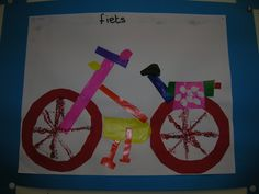 De fiets I Love School, Crafts For Kids, Arts And Crafts, Transportation Theme, Art N Craft, Preschool Activities, Just In Case, Holland, Projects To Try