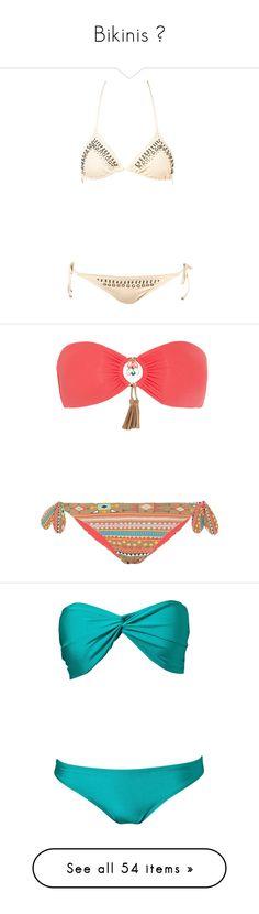 """""""Bikinis ♥"""" by momochen95 ❤ liked on Polyvore featuring swimwear, bikinis, swimsuits, bikini, bathing suits, swim, women, swimming costume, bikini swimsuit and swim suits"""