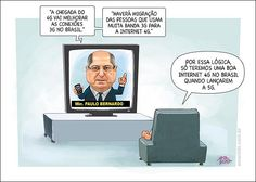 Charge do dia: Internet 4G no Brasil - Por Amarildo