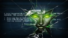 System Shock SHODAN wallpaper. One of my favorites out of 1000's of wallpapers on my hard drive.