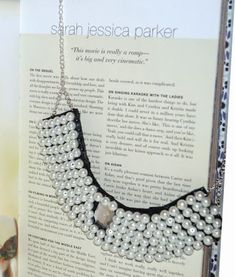 Stylish Knockoff Pearl Collar Necklace