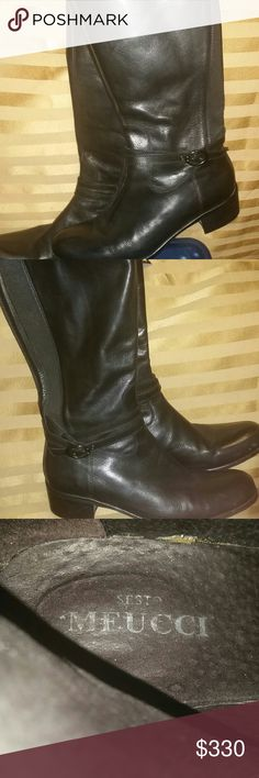 Sesto Meucci Knee high Boots Leather Knee high boots Sesto Meucci Shoes Heeled Boots