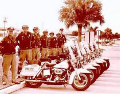 Pompano Beach Police motorcycles back in the day.