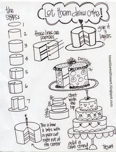 T. Matthews Fine Art: First Friday Art Class for February 2014 - Let Them Draw Cake!