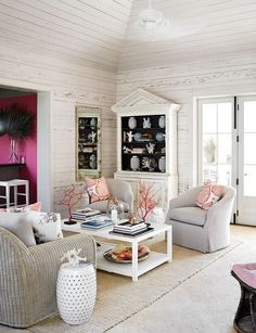 A coastal castaway chic vacation home in the Bahamas.