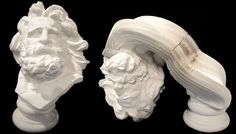 Li Hongbo é um artista chinês que ficou muito famoso depois de criar esculturas incríveis que se parecem obras de porcelana esculpida,