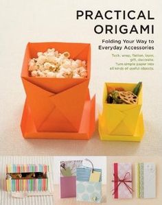 Origami Práctico repleto de fantásticos envases hechos de papel, cajas y mucho más - Practical Origami Filled with great paper made containers, boxes and much more.