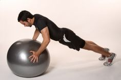 Flexiones con fitball