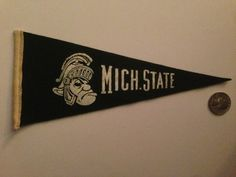 Vintage Michigan State Spartans University Mini Pennant | eBay