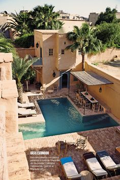 Pool und Spa Hotel La Gazelle d& in Taroudant, Marokko Outdoor Spaces, Outdoor Living, Outdoor Pool, Places To Travel, Places To Go, Beautiful Homes, Beautiful Places, Amazing Places, Spa Hotel