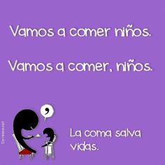La coma salva vidas. #humor #risa #graciosas #chistosas #divertidas