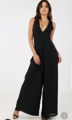 f64af8afeab NWT Angl Wide Pants Open Back Jumpsuit  fashion  clothing  shoes   accessories