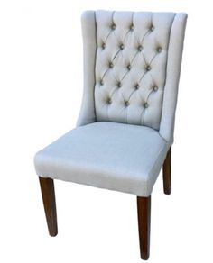 Buttoned Back Dining Chair - Natural – Allissias Attic & Vintage French Style