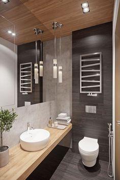 Ideas para decorar tu aseo baño Ideas to decorate your bathroom toilet Guest Toilet, Downstairs Toilet, Bathroom Design Inspiration, Bad Inspiration, Bathroom Design Luxury, Modern Bathroom Design, Small Toilet Design, Ideas Baños, Ideas Para