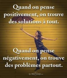 Un idéal qui équilibre When you think positively . Real Life Quotes, Best Quotes, Quotes Francais, Positive Attitude, Positive Vibes, Attitude Quotes, Cute Captions, Quotes Arabic, Motivational Quotes