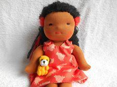 Poupée Waldorf (de chiffon, de tissus ) peau canelle fait-main @petites-chiffonneries : Jeux, jouets par petites-chiffonneries