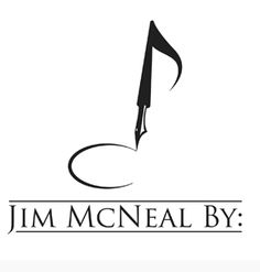 logo design for Jim McNeal by thelogoboutique.com - music note and pen hybrid